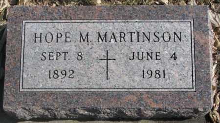 MARTINSON, HOPE M. - Brookings County, South Dakota   HOPE M. MARTINSON - South Dakota Gravestone Photos
