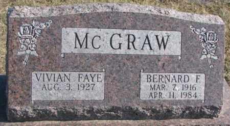 MCGRAW, BERNARD F. - Brookings County, South Dakota | BERNARD F. MCGRAW - South Dakota Gravestone Photos