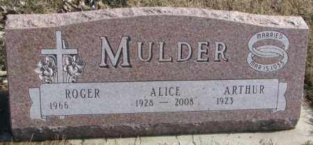 MULDER, ROGER - Brookings County, South Dakota | ROGER MULDER - South Dakota Gravestone Photos