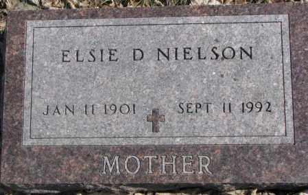 NIELSON, ELSIE D. - Brookings County, South Dakota | ELSIE D. NIELSON - South Dakota Gravestone Photos
