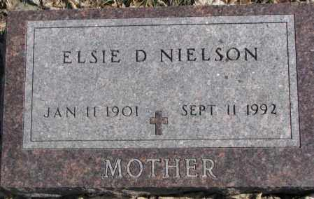 NIELSON, ELSIE D. - Brookings County, South Dakota   ELSIE D. NIELSON - South Dakota Gravestone Photos