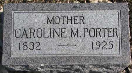 PORTER, CAROLINE M. - Brookings County, South Dakota | CAROLINE M. PORTER - South Dakota Gravestone Photos