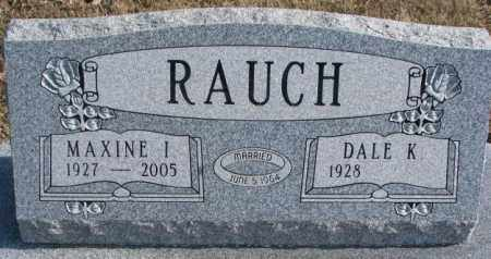 RAUCH, MAXINE I. - Brookings County, South Dakota | MAXINE I. RAUCH - South Dakota Gravestone Photos