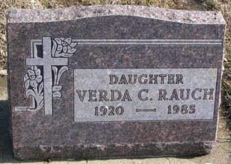 RAUCH, VERDA C. - Brookings County, South Dakota | VERDA C. RAUCH - South Dakota Gravestone Photos