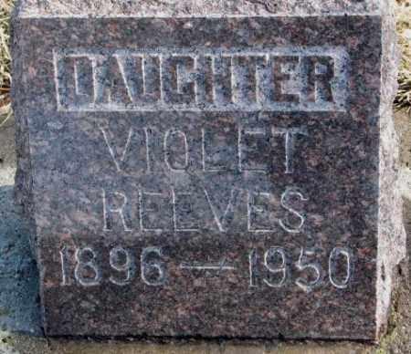 REEVES, VIOLET - Brookings County, South Dakota   VIOLET REEVES - South Dakota Gravestone Photos