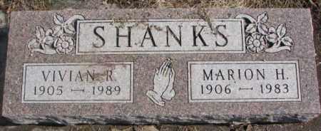 SHANKS, MARION H. - Brookings County, South Dakota   MARION H. SHANKS - South Dakota Gravestone Photos