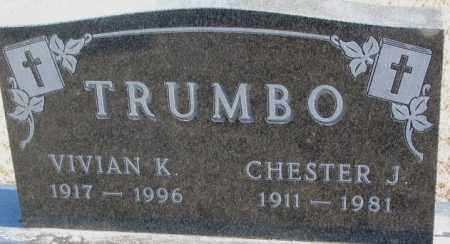 TRUMBO, CHESTER J. - Brookings County, South Dakota | CHESTER J. TRUMBO - South Dakota Gravestone Photos