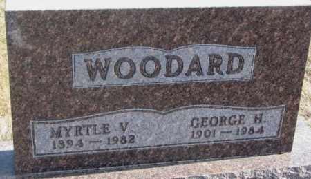 WOODARD, GEORGE H. - Brookings County, South Dakota   GEORGE H. WOODARD - South Dakota Gravestone Photos