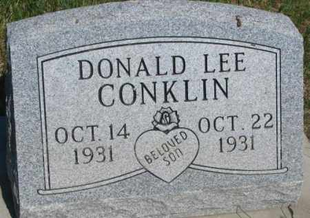 CONKLIN, DONALD LEE - Buffalo County, South Dakota | DONALD LEE CONKLIN - South Dakota Gravestone Photos