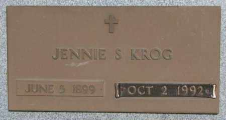 KROG, JENNIE S. - Buffalo County, South Dakota | JENNIE S. KROG - South Dakota Gravestone Photos