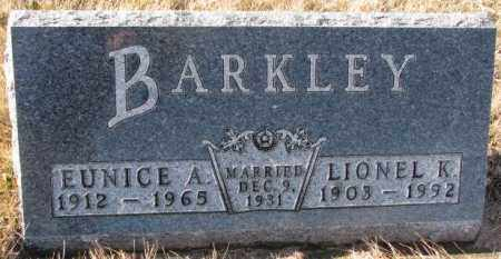 BARKLEY, EUNICE A. - Charles Mix County, South Dakota | EUNICE A. BARKLEY - South Dakota Gravestone Photos