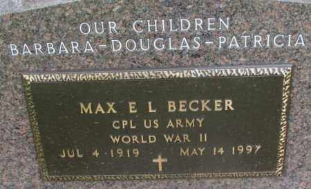 BECKER, MAX E. L. (WW II) - Charles Mix County, South Dakota | MAX E. L. (WW II) BECKER - South Dakota Gravestone Photos