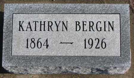 BERGIN, KATHRYN - Charles Mix County, South Dakota | KATHRYN BERGIN - South Dakota Gravestone Photos