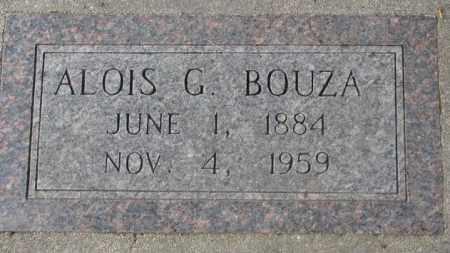 BOUZA, ALOIS G. - Charles Mix County, South Dakota | ALOIS G. BOUZA - South Dakota Gravestone Photos