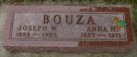 BOUZA, ANNA H. - Charles Mix County, South Dakota | ANNA H. BOUZA - South Dakota Gravestone Photos