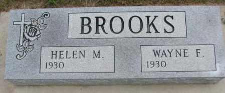 BROOKS, WAYNE F. - Charles Mix County, South Dakota   WAYNE F. BROOKS - South Dakota Gravestone Photos