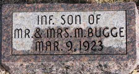 BUGGE, INF. SON - Charles Mix County, South Dakota | INF. SON BUGGE - South Dakota Gravestone Photos