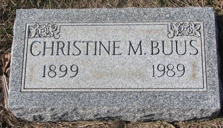 BUUS, CHRISTINE M. - Charles Mix County, South Dakota | CHRISTINE M. BUUS - South Dakota Gravestone Photos