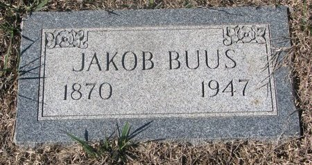 BUUS, JAKOB - Charles Mix County, South Dakota | JAKOB BUUS - South Dakota Gravestone Photos