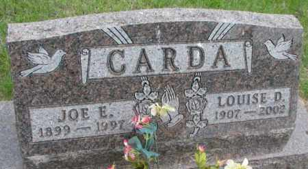 CARDA, JOE E. - Charles Mix County, South Dakota | JOE E. CARDA - South Dakota Gravestone Photos