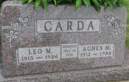 CARDA, AGNES M. - Charles Mix County, South Dakota | AGNES M. CARDA - South Dakota Gravestone Photos