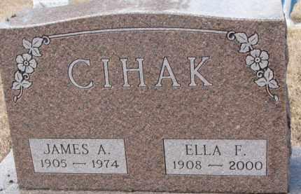 CIHAK, JAMES A. - Charles Mix County, South Dakota | JAMES A. CIHAK - South Dakota Gravestone Photos