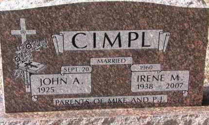 CIMPL, IRENE M. - Charles Mix County, South Dakota | IRENE M. CIMPL - South Dakota Gravestone Photos
