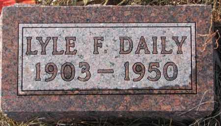 DAILEY, LYLE F. - Charles Mix County, South Dakota   LYLE F. DAILEY - South Dakota Gravestone Photos