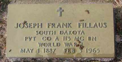 FILLAUS, JOSEPH FRANK (WW I) - Charles Mix County, South Dakota | JOSEPH FRANK (WW I) FILLAUS - South Dakota Gravestone Photos