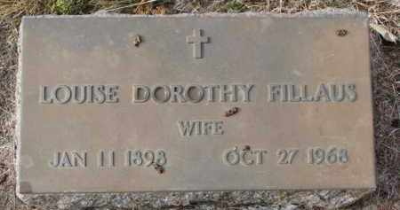 FILLAUS, LOUISE DOROTHY - Charles Mix County, South Dakota | LOUISE DOROTHY FILLAUS - South Dakota Gravestone Photos