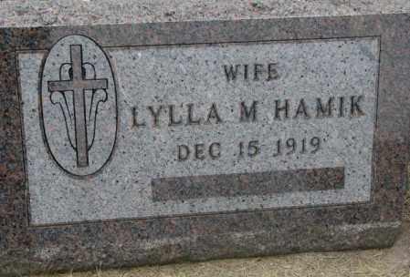 HAMIK, LYLLA M. - Charles Mix County, South Dakota | LYLLA M. HAMIK - South Dakota Gravestone Photos