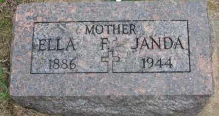 JANDA, ELLA F. - Charles Mix County, South Dakota | ELLA F. JANDA - South Dakota Gravestone Photos