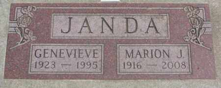 JANDA, GENEVIEVE - Charles Mix County, South Dakota | GENEVIEVE JANDA - South Dakota Gravestone Photos