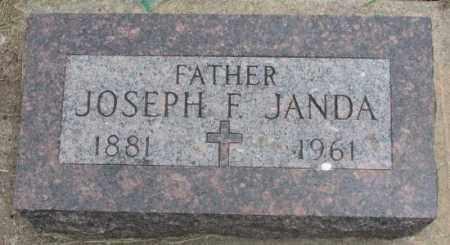 JANDA, JOSEPH F. - Charles Mix County, South Dakota | JOSEPH F. JANDA - South Dakota Gravestone Photos