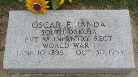 JANDA, OSCAR F. - Charles Mix County, South Dakota | OSCAR F. JANDA - South Dakota Gravestone Photos