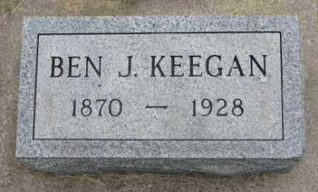 KEEGAN, BEN J. - Charles Mix County, South Dakota | BEN J. KEEGAN - South Dakota Gravestone Photos