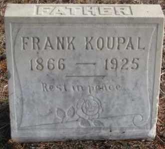 KOUPAL, FRANK - Charles Mix County, South Dakota   FRANK KOUPAL - South Dakota Gravestone Photos