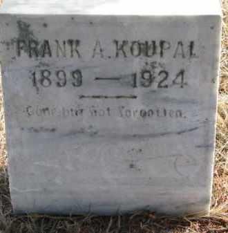 KOUPAL, FRANK A. - Charles Mix County, South Dakota   FRANK A. KOUPAL - South Dakota Gravestone Photos