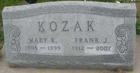 KOZAK, FRANK J. - Charles Mix County, South Dakota | FRANK J. KOZAK - South Dakota Gravestone Photos