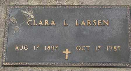 LARSEN, CLARA L. - Charles Mix County, South Dakota | CLARA L. LARSEN - South Dakota Gravestone Photos