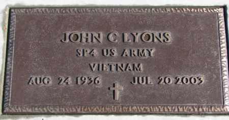 LYONS, JOHN C. (VIETNAM) - Charles Mix County, South Dakota   JOHN C. (VIETNAM) LYONS - South Dakota Gravestone Photos