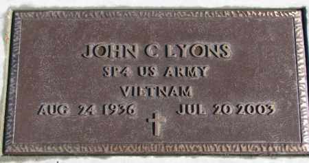 LYONS, JOHN C. (VIETNAM) - Charles Mix County, South Dakota | JOHN C. (VIETNAM) LYONS - South Dakota Gravestone Photos