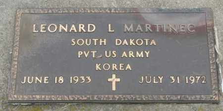 MARTINEC, LEONARD L. - Charles Mix County, South Dakota | LEONARD L. MARTINEC - South Dakota Gravestone Photos