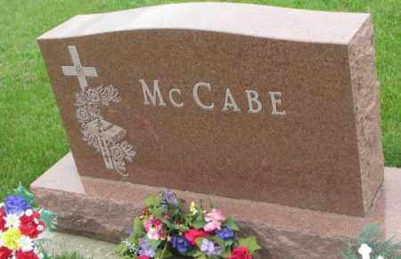 MCCABE, FAMILY PLOT MARKER - Charles Mix County, South Dakota | FAMILY PLOT MARKER MCCABE - South Dakota Gravestone Photos