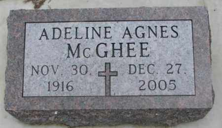 MCGHEE, ADELINE AGNES - Charles Mix County, South Dakota | ADELINE AGNES MCGHEE - South Dakota Gravestone Photos