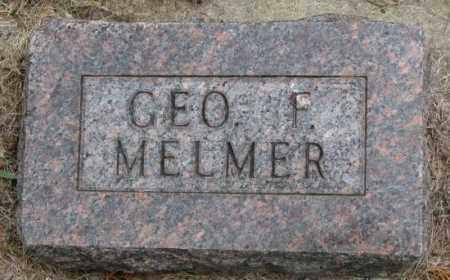 MELMER, GEO. F. - Charles Mix County, South Dakota | GEO. F. MELMER - South Dakota Gravestone Photos