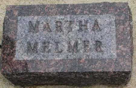 MELMER, MARTHA - Charles Mix County, South Dakota | MARTHA MELMER - South Dakota Gravestone Photos