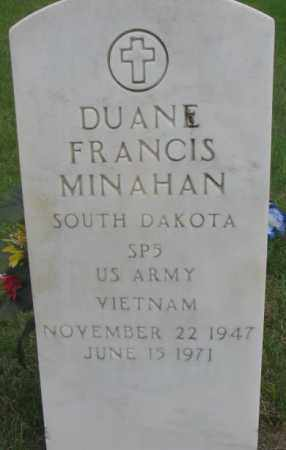 MINAHAN, DUANE FRANCIS - Charles Mix County, South Dakota | DUANE FRANCIS MINAHAN - South Dakota Gravestone Photos