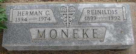 MONEKE, HERMAN C. - Charles Mix County, South Dakota | HERMAN C. MONEKE - South Dakota Gravestone Photos