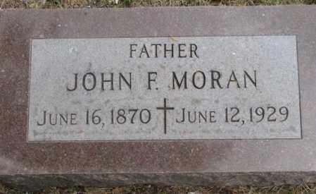 MORAN, JOHN F. - Charles Mix County, South Dakota   JOHN F. MORAN - South Dakota Gravestone Photos